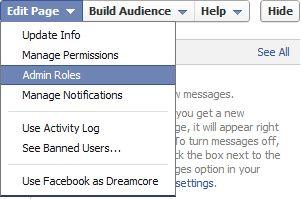 Facebook Edit Page Admin Roles