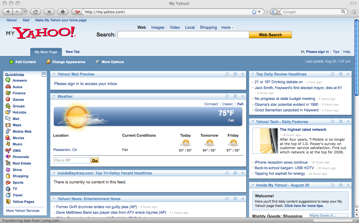 my msn homepage sign in