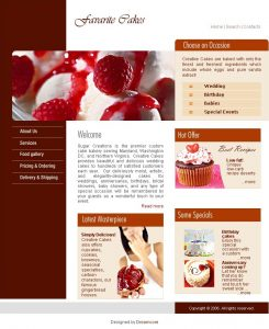 Sugar Creations Website