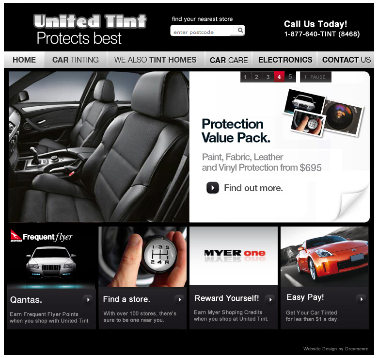 United Tint Website