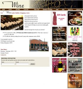 Wine Factory Website