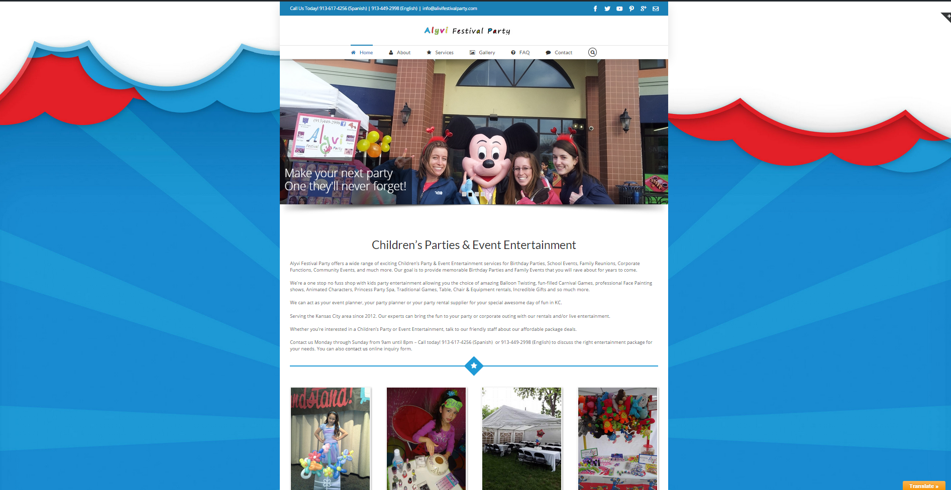 Alyvi Festival Party Children's Events