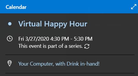 Virtual Happy Hour Invite